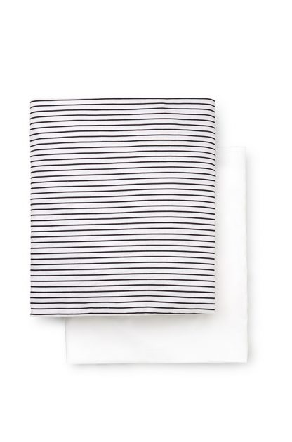 Boys 2 Pack Bassinet Fitted Sheet Set