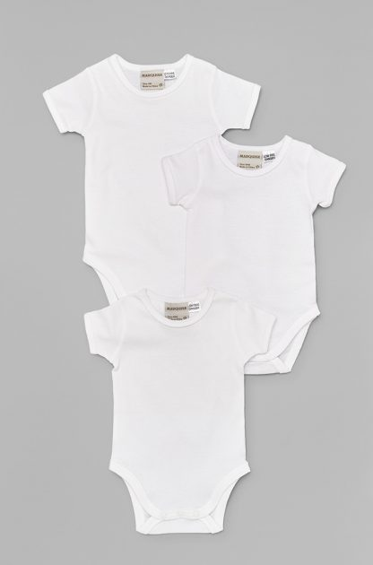 3 pack Shortsleeve Bodysuits