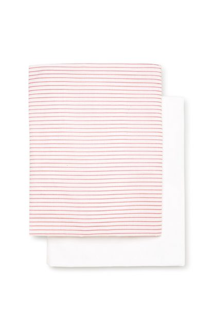 Girls 2 Pack Fitted Bassinet Sheet Set