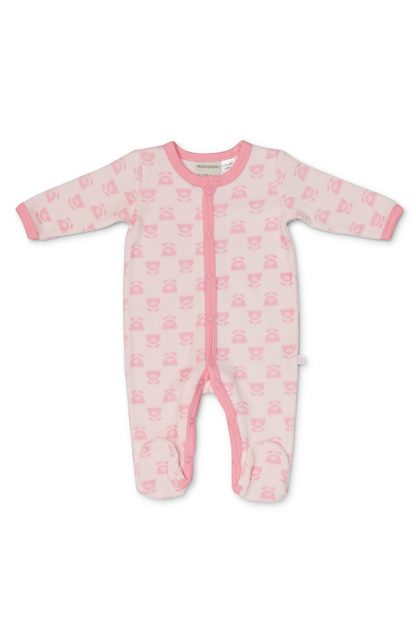 Girls Velour Printed Growsuit