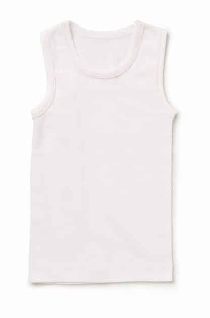 2 Pack Girls White Pink Trim Singlet 1