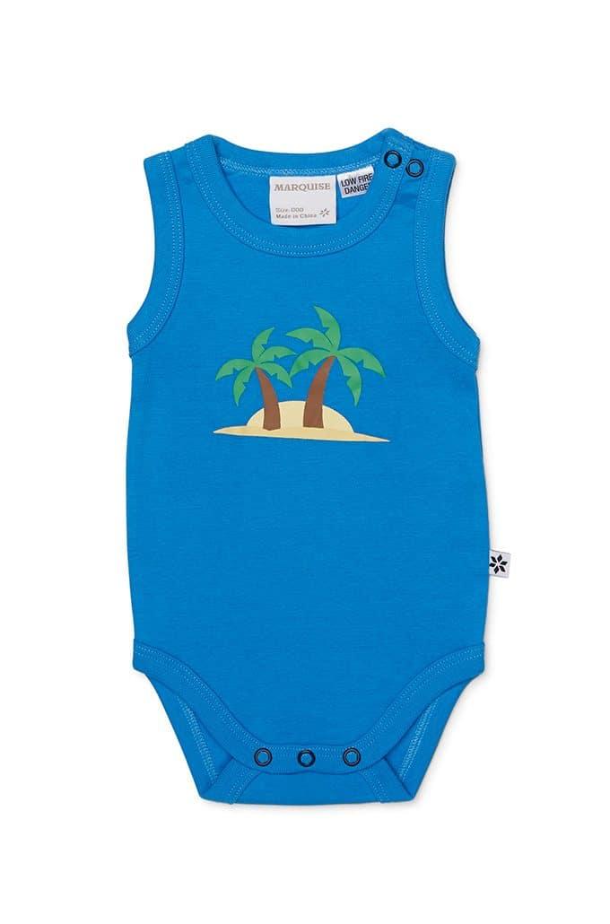 Summer Palms Romper and Bodysuit Set
