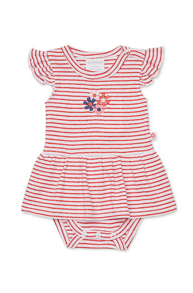 7dfbab2ee7d1 Girls Flower Dot Dress and Bloomer All in One - Marquise