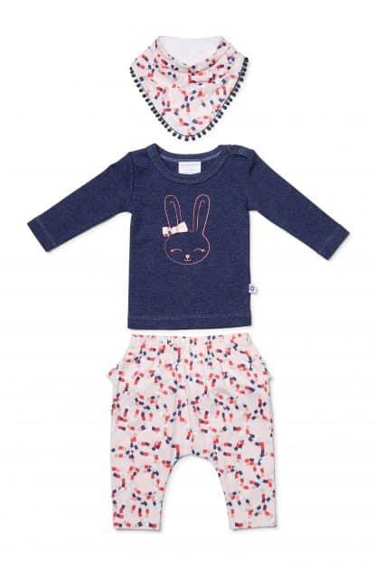 807cf166103ef Circles long sleeve top frilled pant and bib set